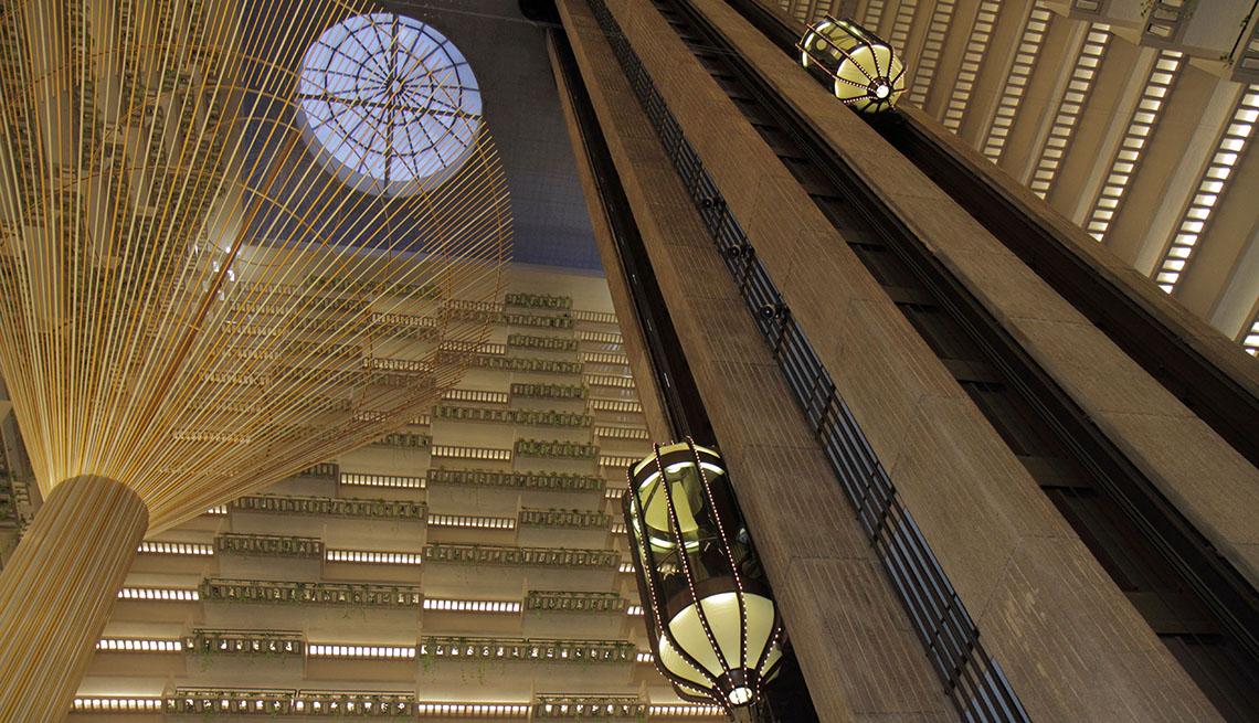 The Impressive Lobby And Elevators In Atlanta Georgia's Hyatt Regency Hotel, Impressive Hotel Lobbies