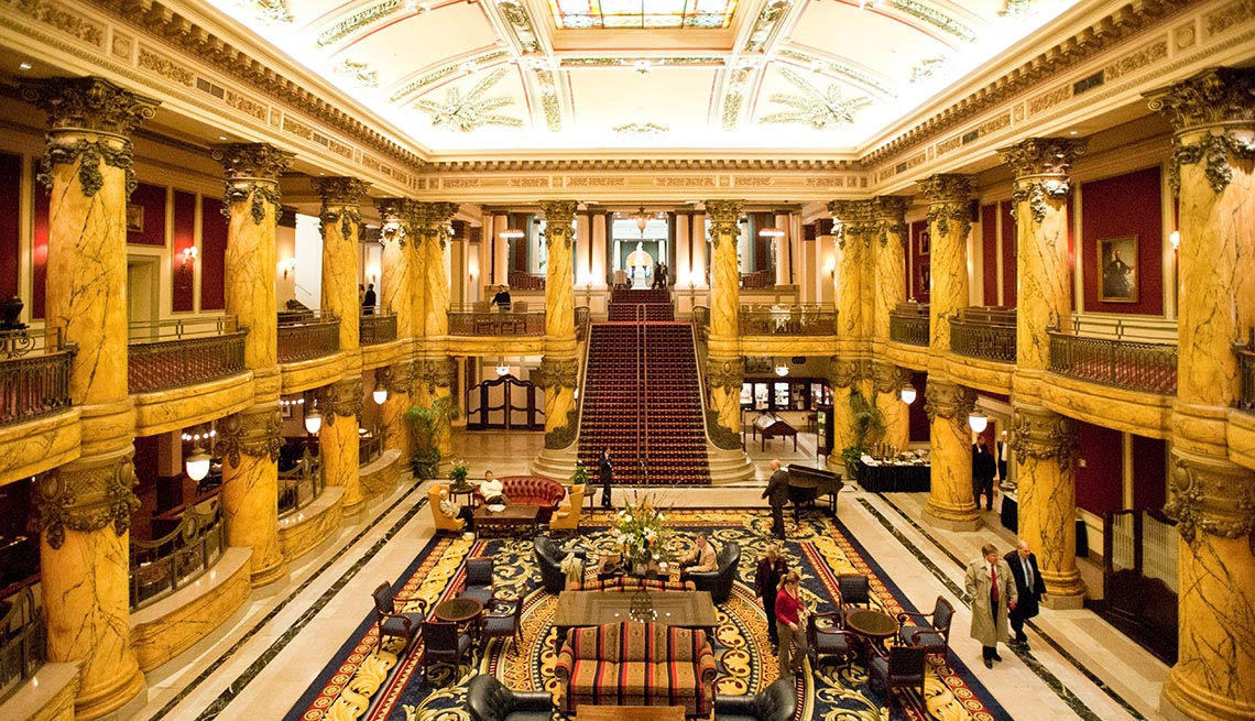Interior Of The Jefferson Hotel In Richmond Virginia, Impressive Hotel Lobbies