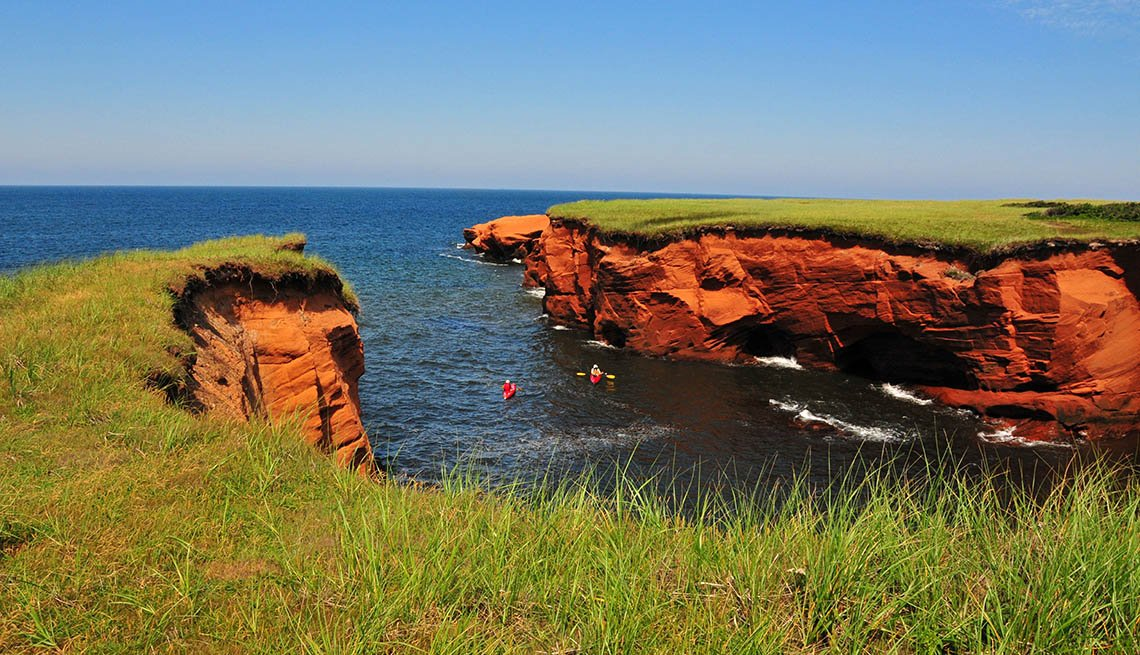 View Of Cliffs Of The Magdalene Islands, Visit Natural Wonders