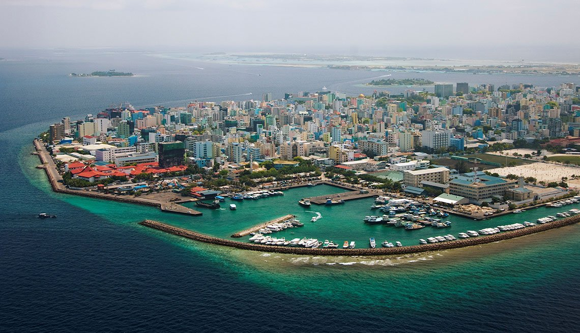 Aerial View Of Maldives, Visit Natural Wonders
