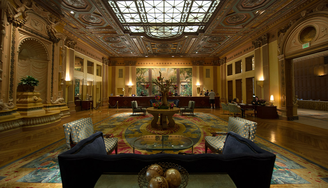 Interior Lobby Of The Millennium Biltmore In Los Angeles California, Impressive Hotel Lobbies