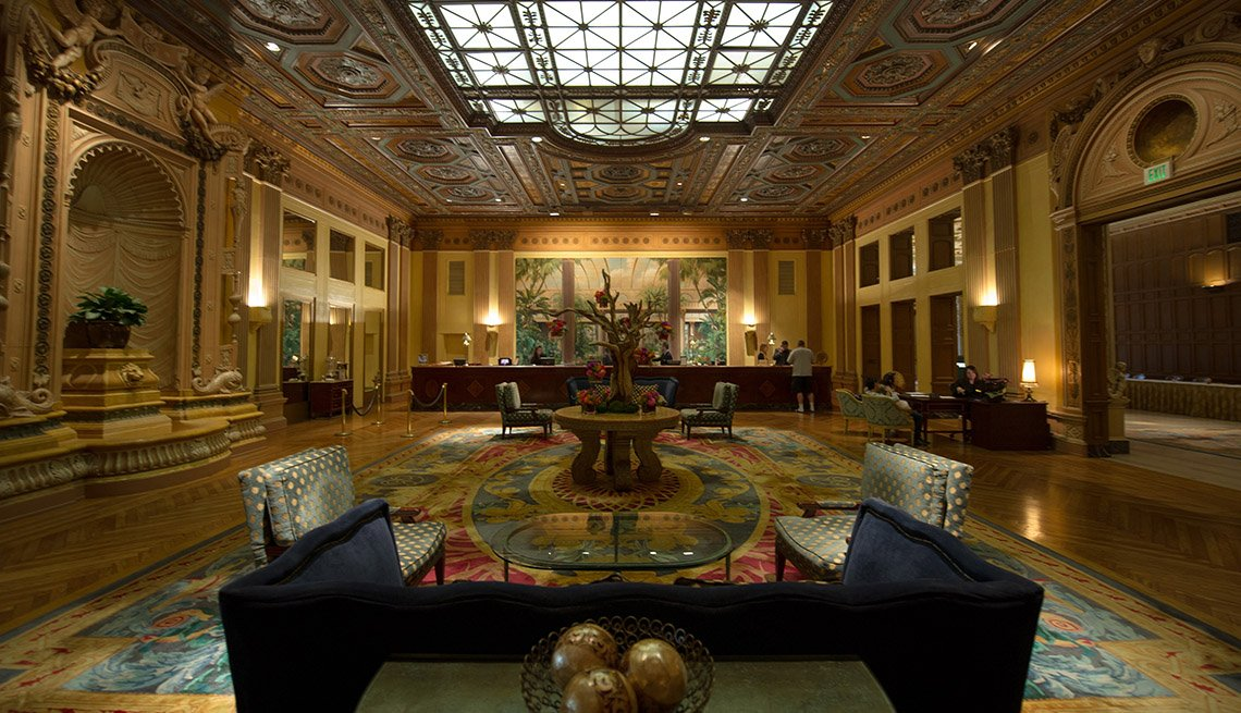 Interior Lobby Of The Millennium Biltmore In Los Angeles California, Impressive Hotel Lobbies