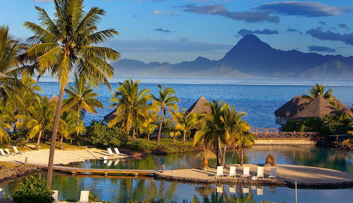 Beach Resort And Pool In Tahiti, Best Honeymoon Destinations