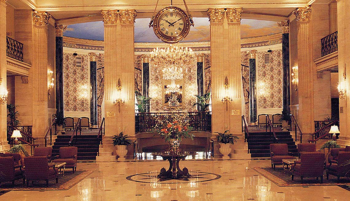 The Lobby Of The Roosevelt Hotel In New York City, Impressive Hotel Lobbies