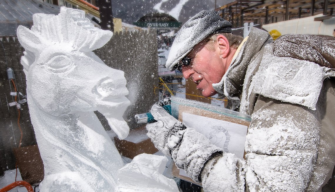 Ice Carving Competition Stowe Winter Carnival, Vermont, Great Winter Festivals, Travel