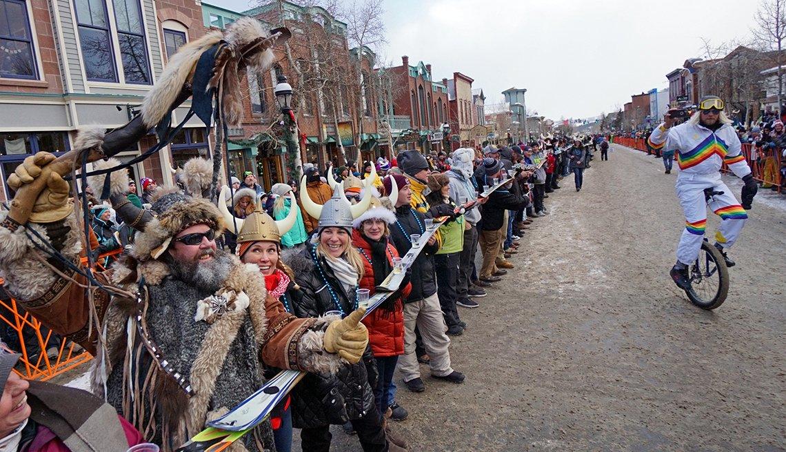 Crowds at Ullr Fest in Breckenridge, Colorado, Great Winter Festivals, Travel