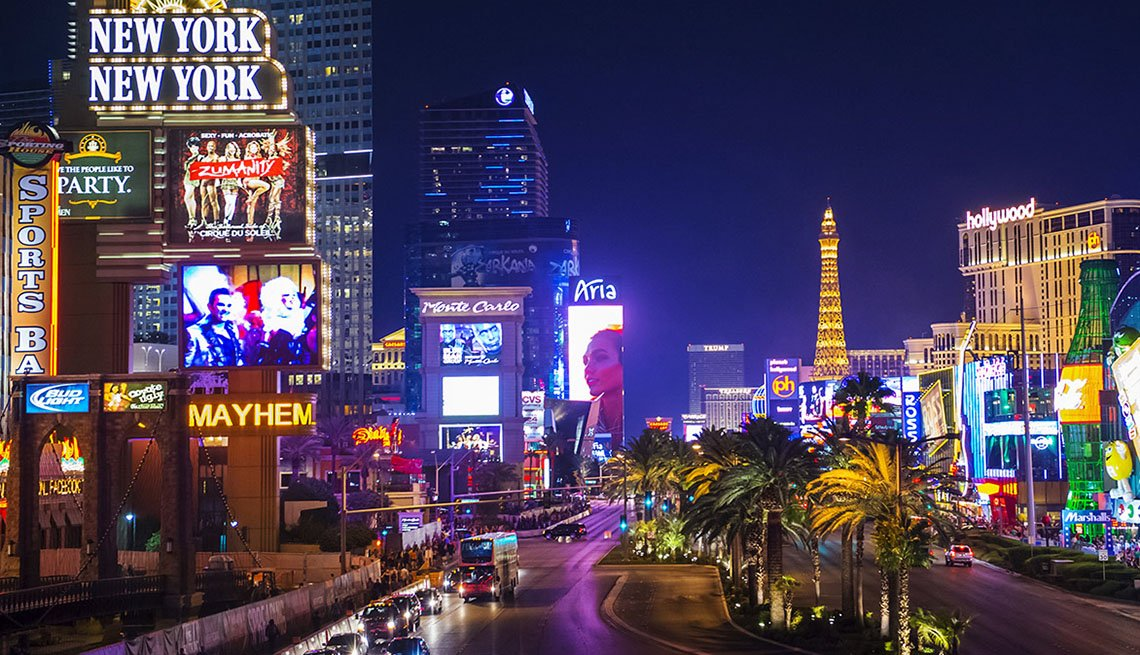 Night Time In Las Vegas Nevada, New Year's Eve Destinations