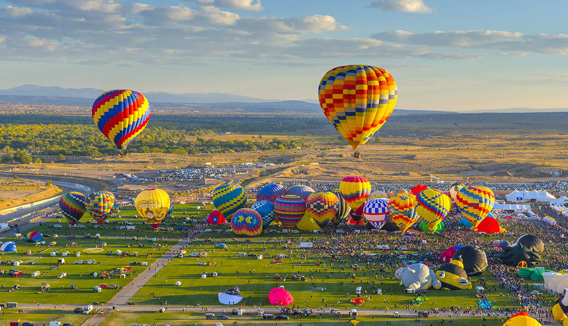 item 1 of Gallery image - Hot Air Balloons Above Alburquerque New Mexico, Great Fall Vacations