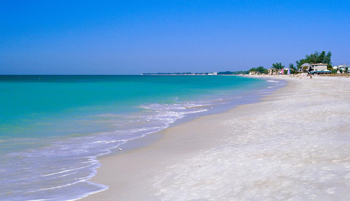 The Beach And Ocean At Anna Maria Island In Florida, Second Honeymoon Destinations