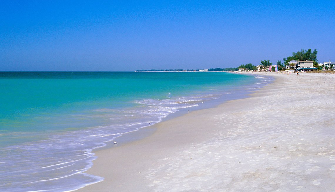 The Beach And Ocean At Anna Maria Island In Florida, Second Honeymoon Destinations