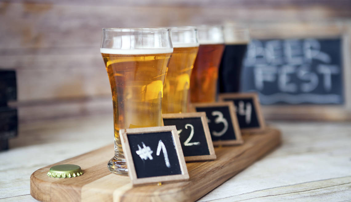 A Flight Of Beer For Taste Testing, Best Cities For Beer Lovers