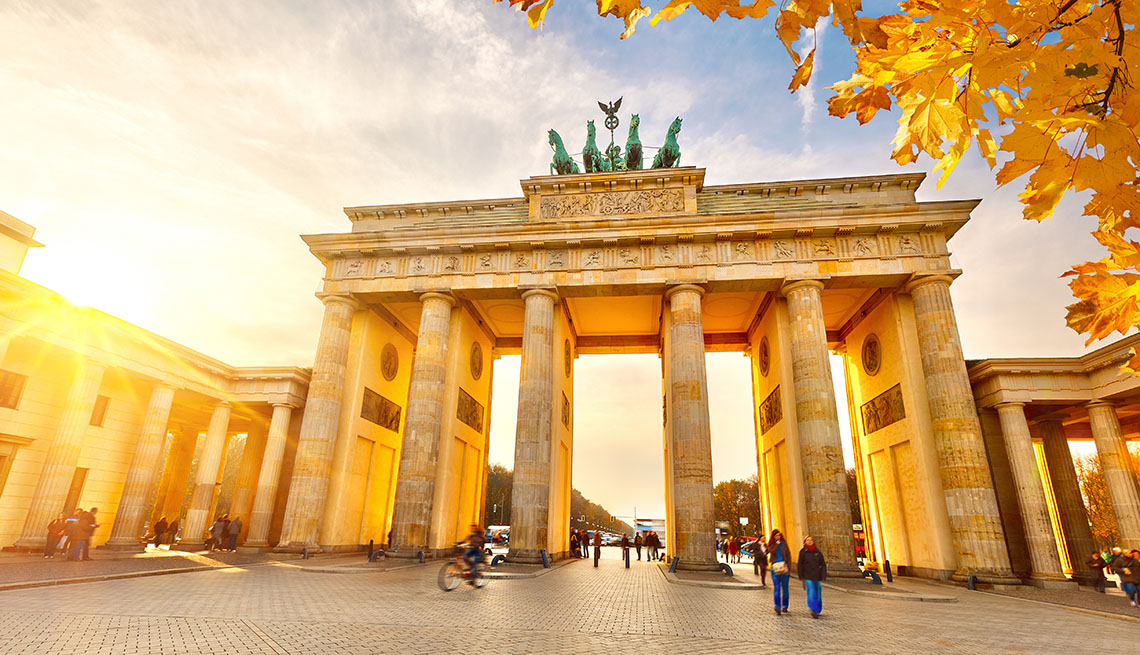 item 1 of Gallery image - View Of The Brandenburg Gate At Sunset In Berlin Germany, Fall Vacations
