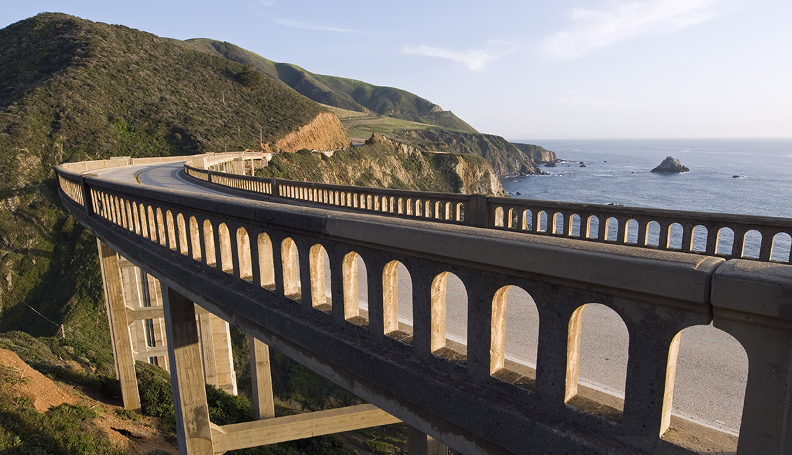 A Bixby Creek Bridge On The Big Sur Coast Highway In California, Great Motorcycle Rides