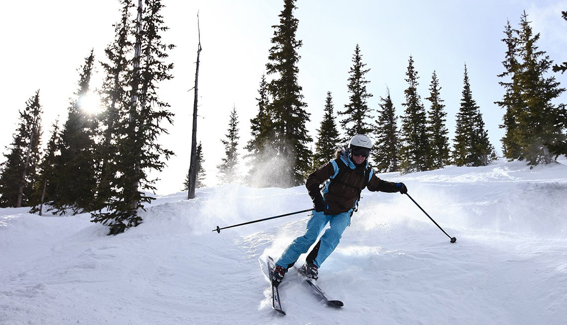 Skier Enjoys The Slopes In Breckenridge Colorado, Thanksgiving Day Destinations