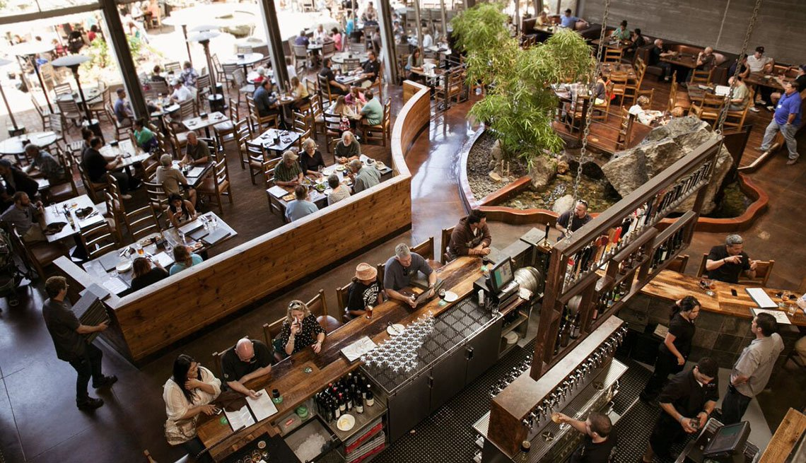 Aerial View Of Stone Brewing Bar In San Diego California, Best Cities For Beer Lovers