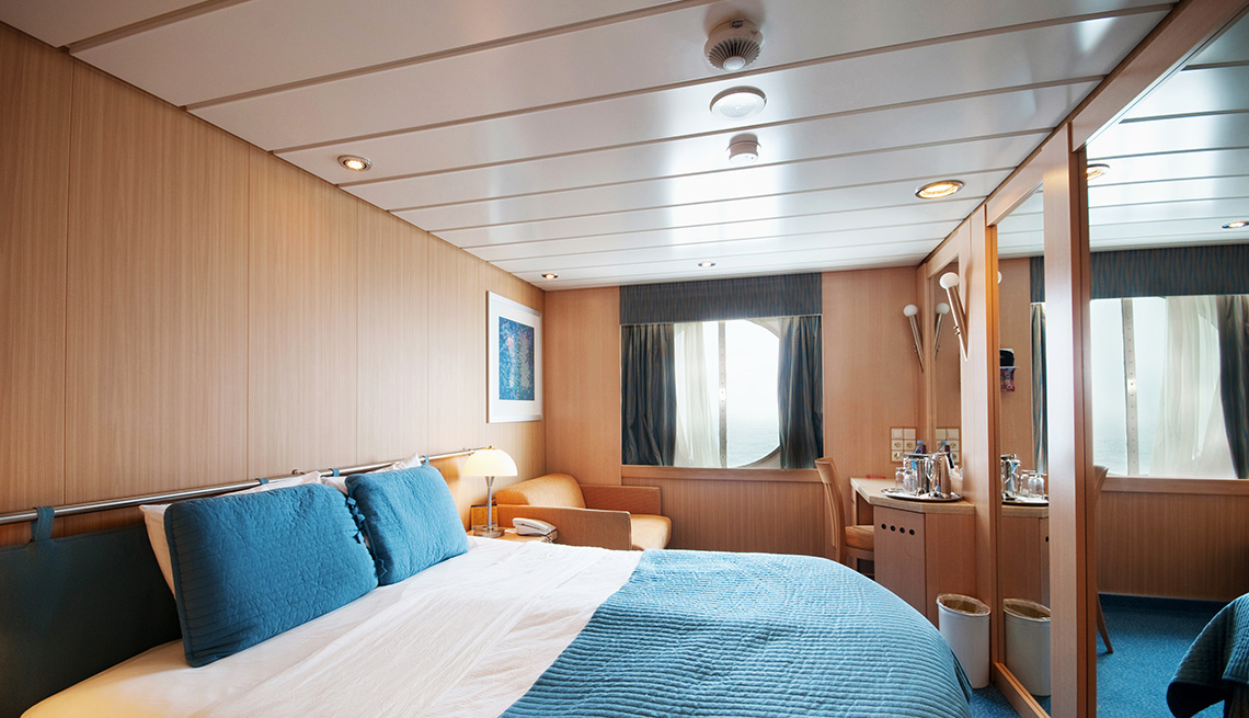 Interior Of A Cabin On A Cruise Ship, Cruise Ship Guide And Tips