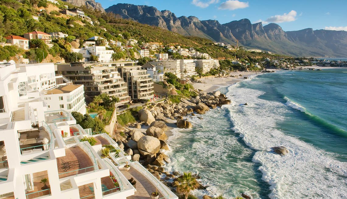 item 10 of Gallery image - Aerial View Of Penthouse Estates Overlooking The Beach In Cape Town South Africa, Fall Vacations