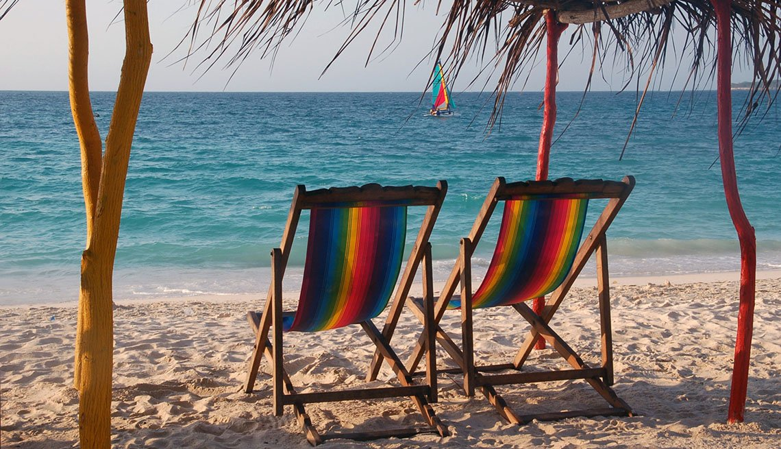 Two Beach Chairs On The Beach In Cartagena Colombia, World's Best Beaches