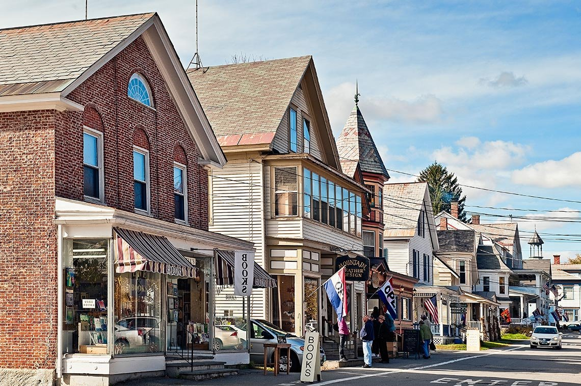 item 12 of Gallery image - Downtown Main Street And Store Fronts In Chester Vermont, Great Fall Vacations