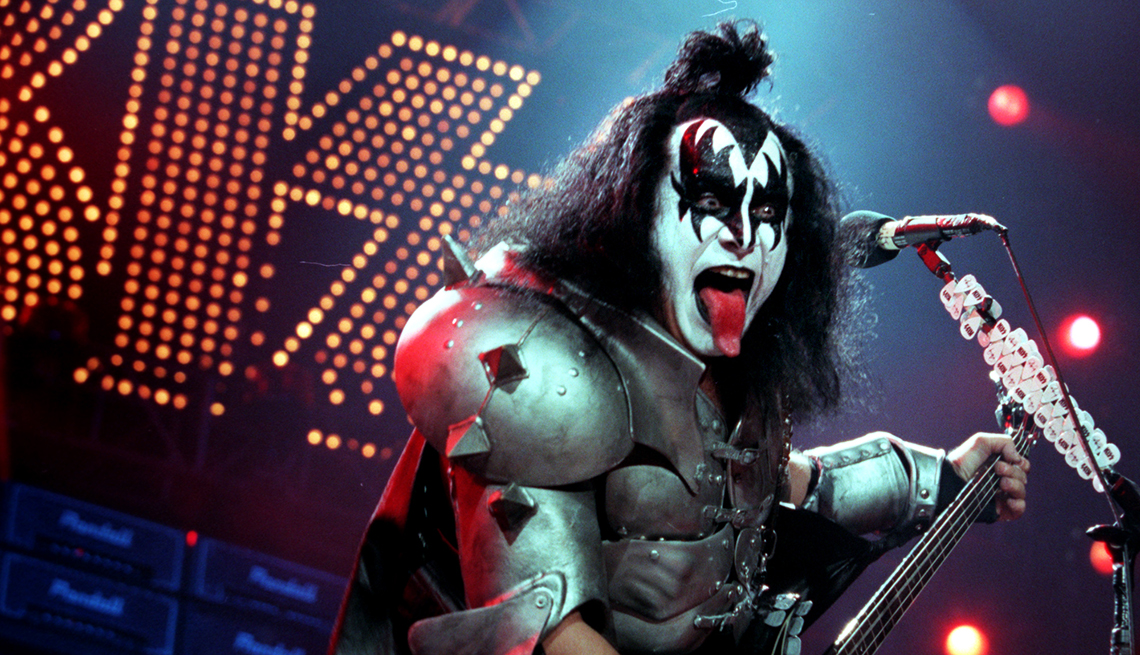 Guitarist for KISS Gene Simmons Performs, Classic Rock Cruises