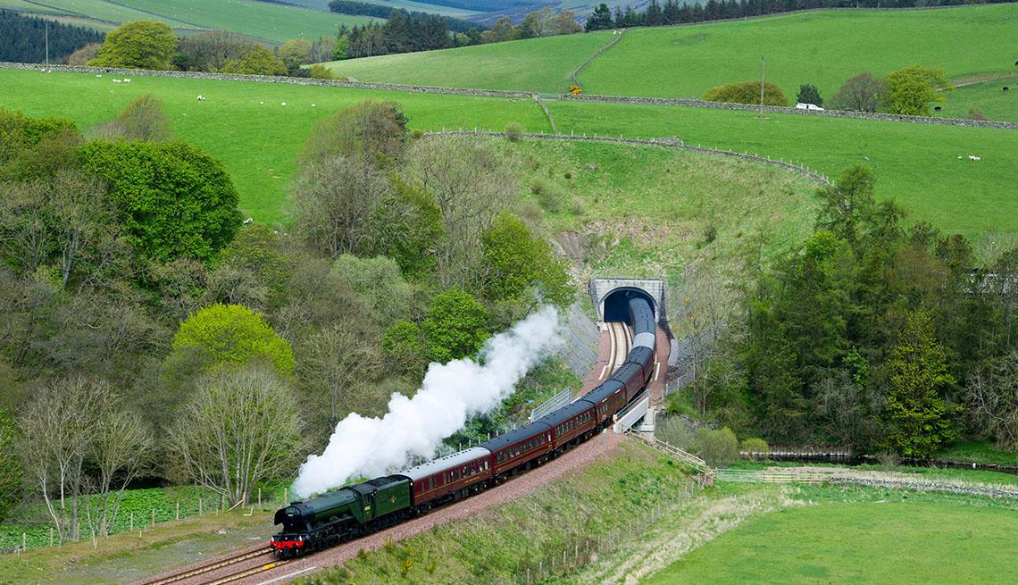 A Train Goes Through Edinburgh In Scotland, United Kingdom, How To Choose A Guided Tour