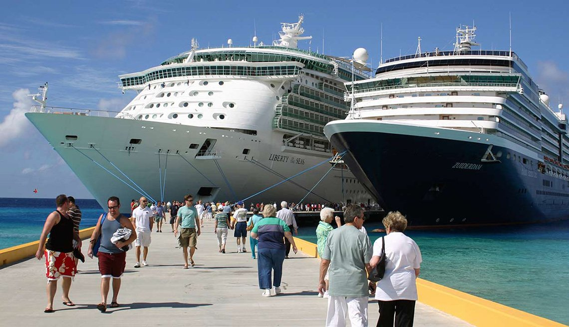 Passengers Depart Cruise Ship At Dock For Excursions, Cruise Ship Myths