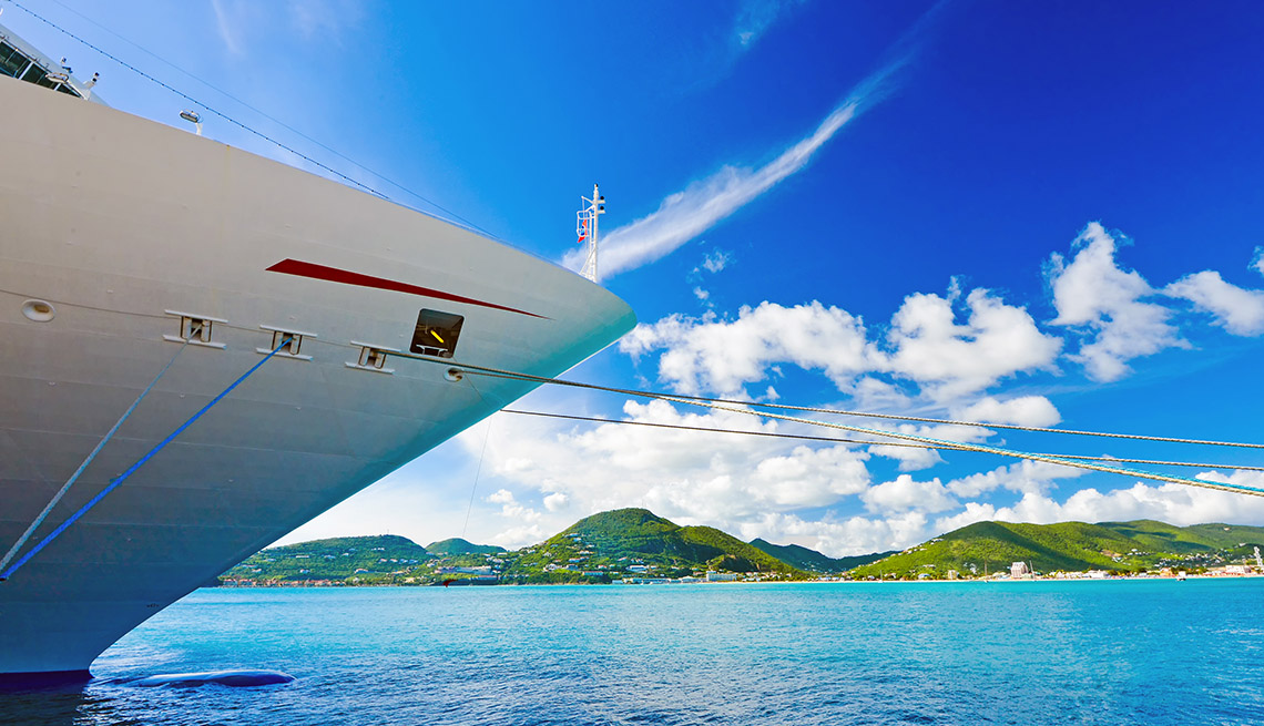 Close Up Of A Bow Of Cruise Ship Docked, Cruise Ship Guide And Tips