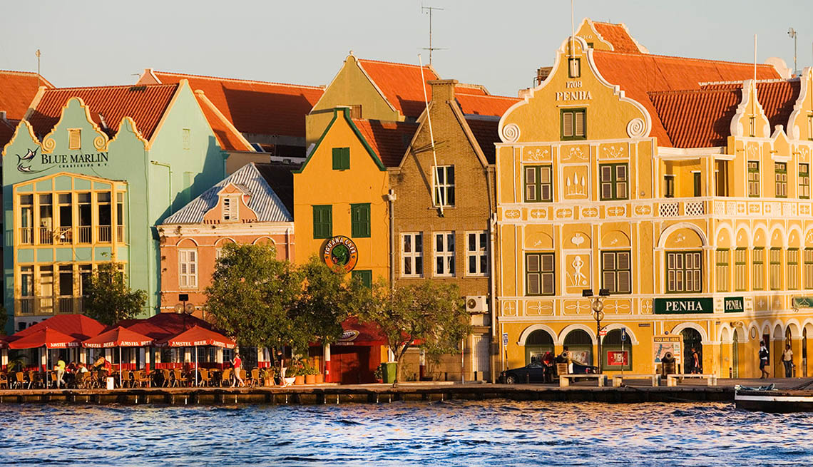 Waterfront Buildings And Cafes In Curacao, Second Honeymoon Destiantions