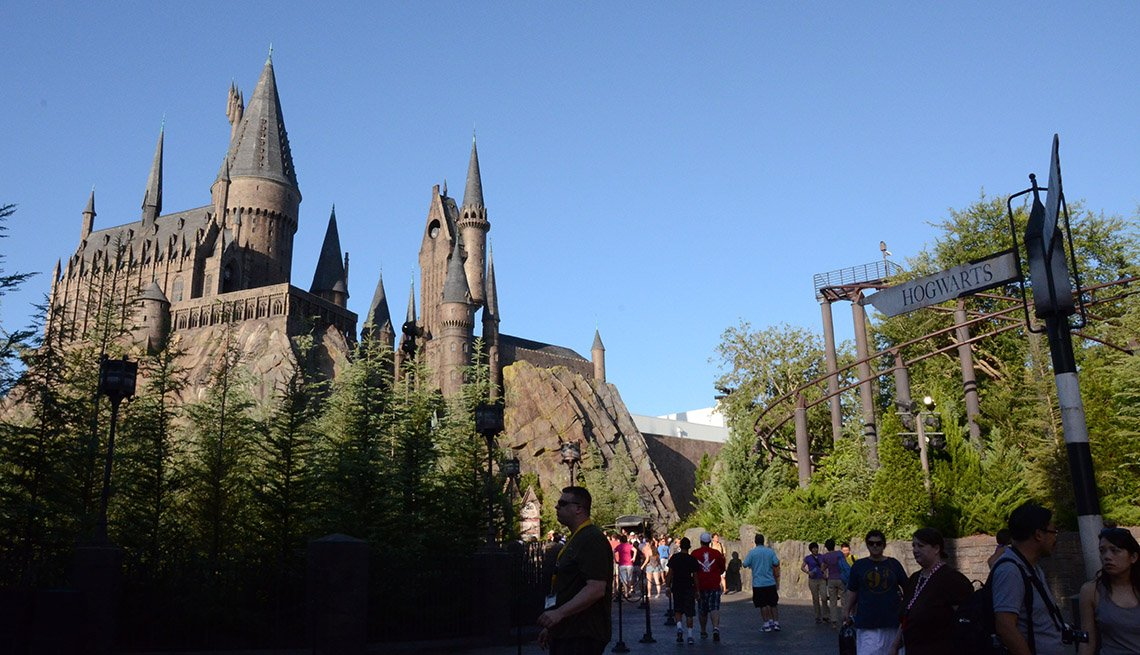 View Of The Wizarding World Of Harry Potter At Disneyworld In Florida, Thanksgiving Day Destinations
