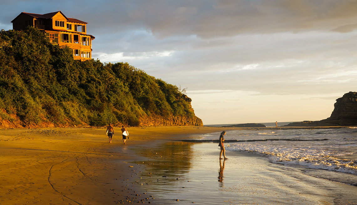 Surfers And Beach Goers On Emerald Coast In Nicaragua, World's Best Beaches