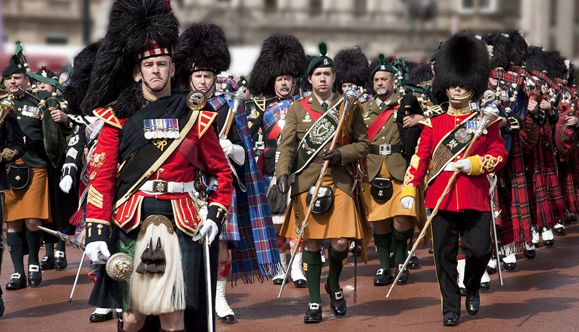 Scottish Highland Military Tattoo Band Perform In Glasgow Scotland, 10 Summer Destinations