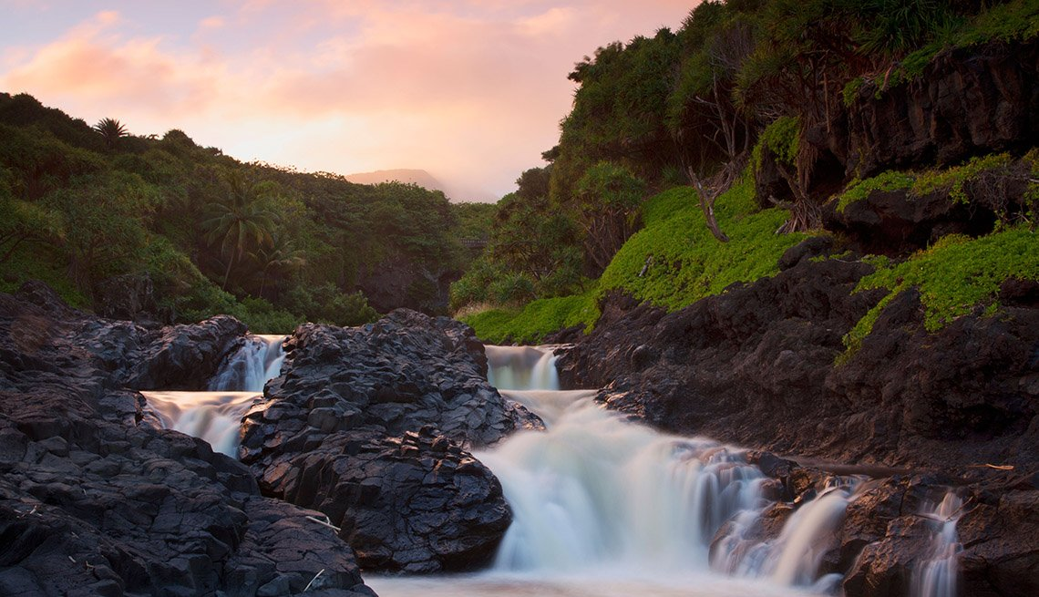 View Of The Seven Sacred Pools In Haleakala National Park In Hana Hawaii, Second Honeymoon Destinations
