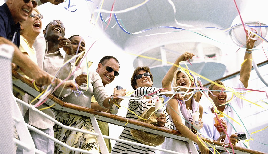 Happy Passengers On A Cruise Ship, Cruise Ship Myths