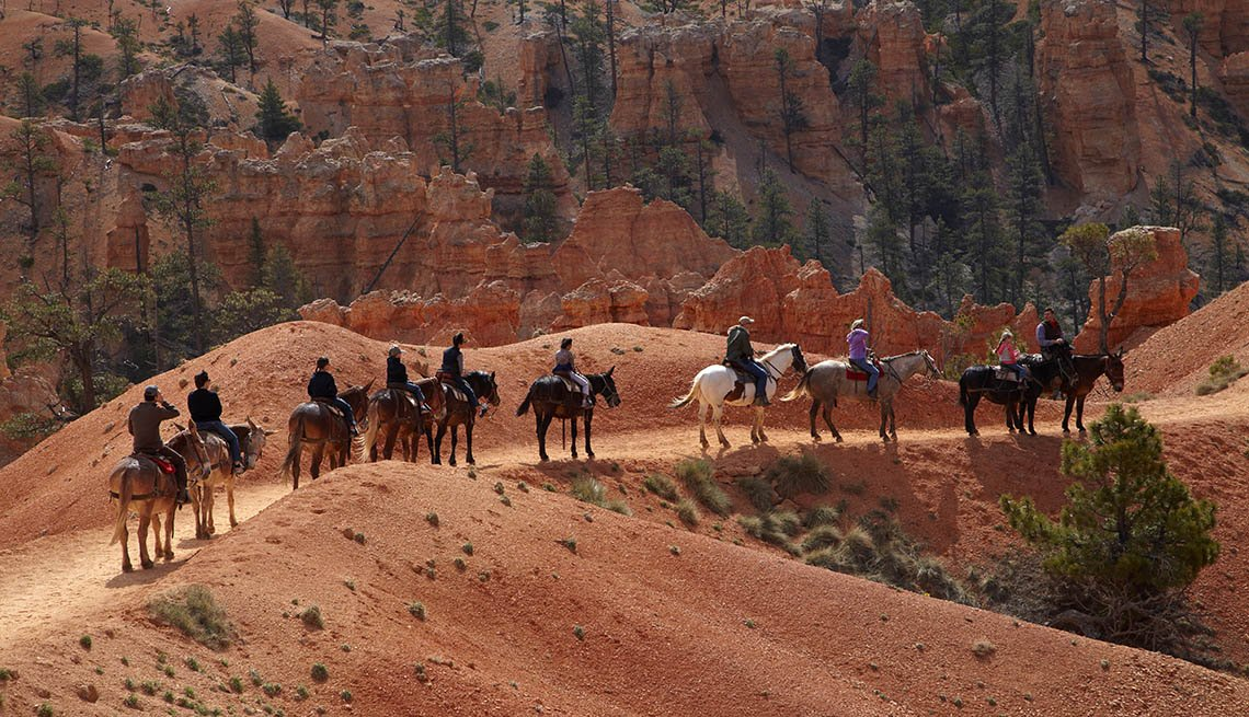 Horse Trekkers Through Bryce Canyon In Utah, AARP Traveler's Tips