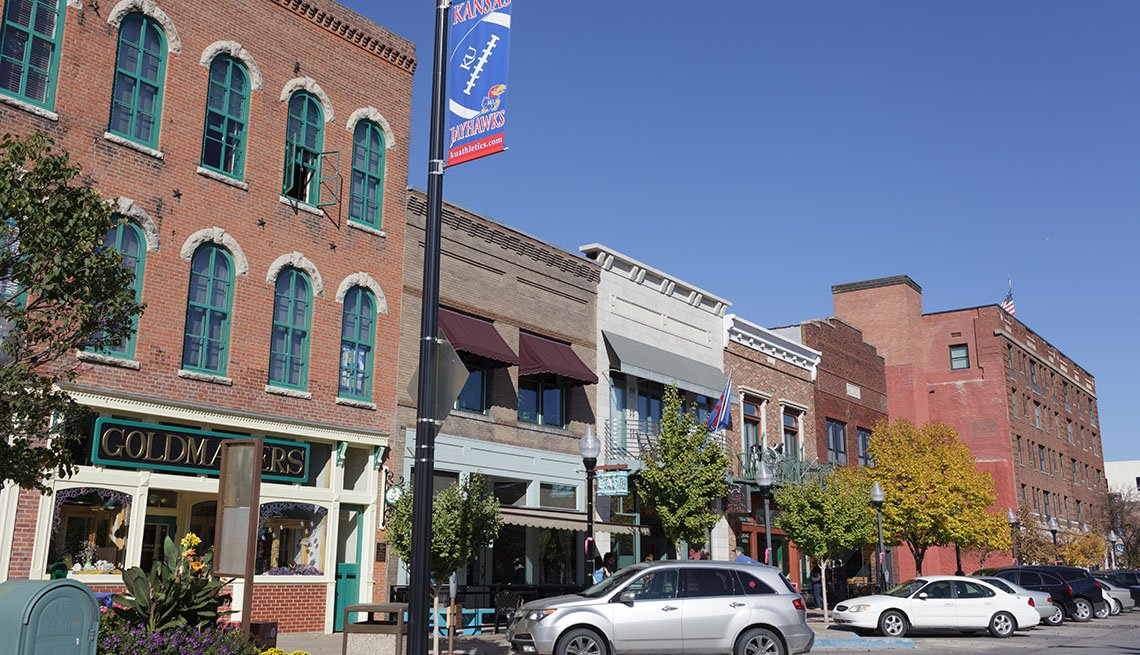 Downtown Lawrence Kansas, College Towns To Visit