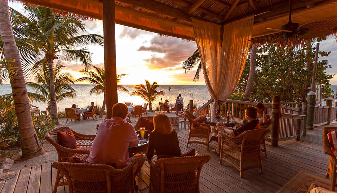 Diners Enjoy The View At Palm Island In The Florida Keys, Second Honeymoon Destinations