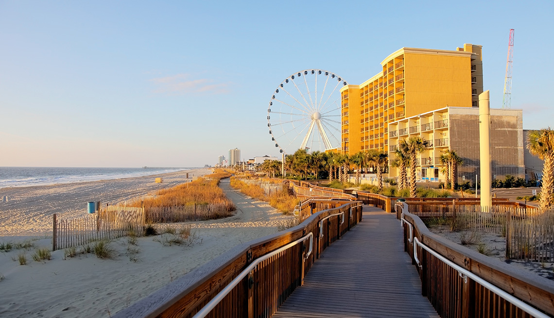 item 7 of Gallery image - The Boardwalk And Hotels In Myrtle Beach South Carolina, Great Fall Vacations