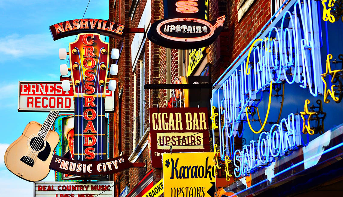 The Signs Of Broadway In Nashville, Tennessee, 10 Summer Destinations