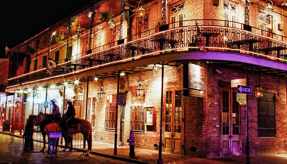 Downtown New Orleans Louisiana At Night, New Year's Eve Destinations