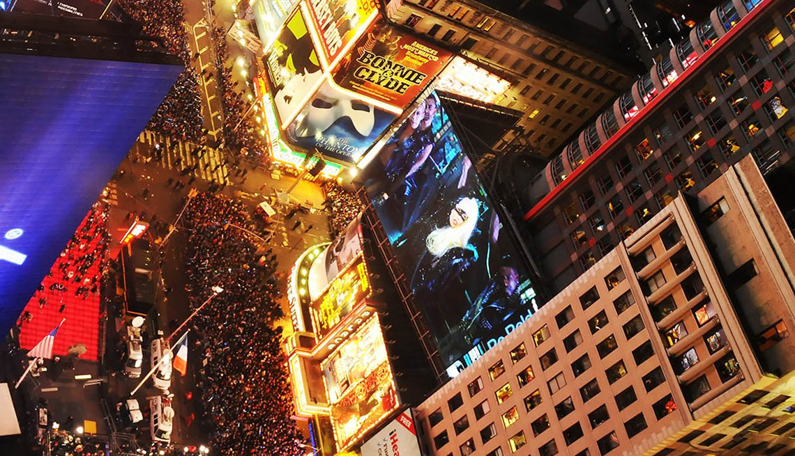 Crowds Gather In Times Square In New York City For New Years Eve, New Year's Eve Destinations
