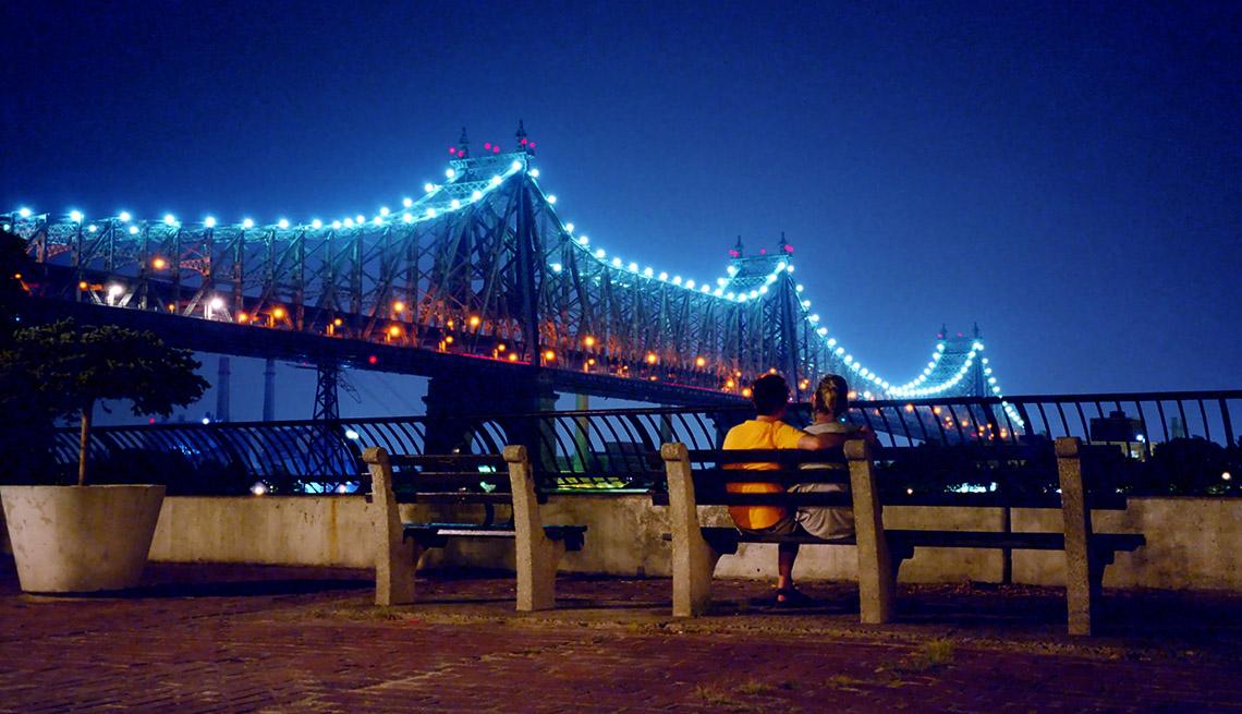 Couple Enjoys The 59th Street Bridge In New York City, Second Honeymoon Destinations