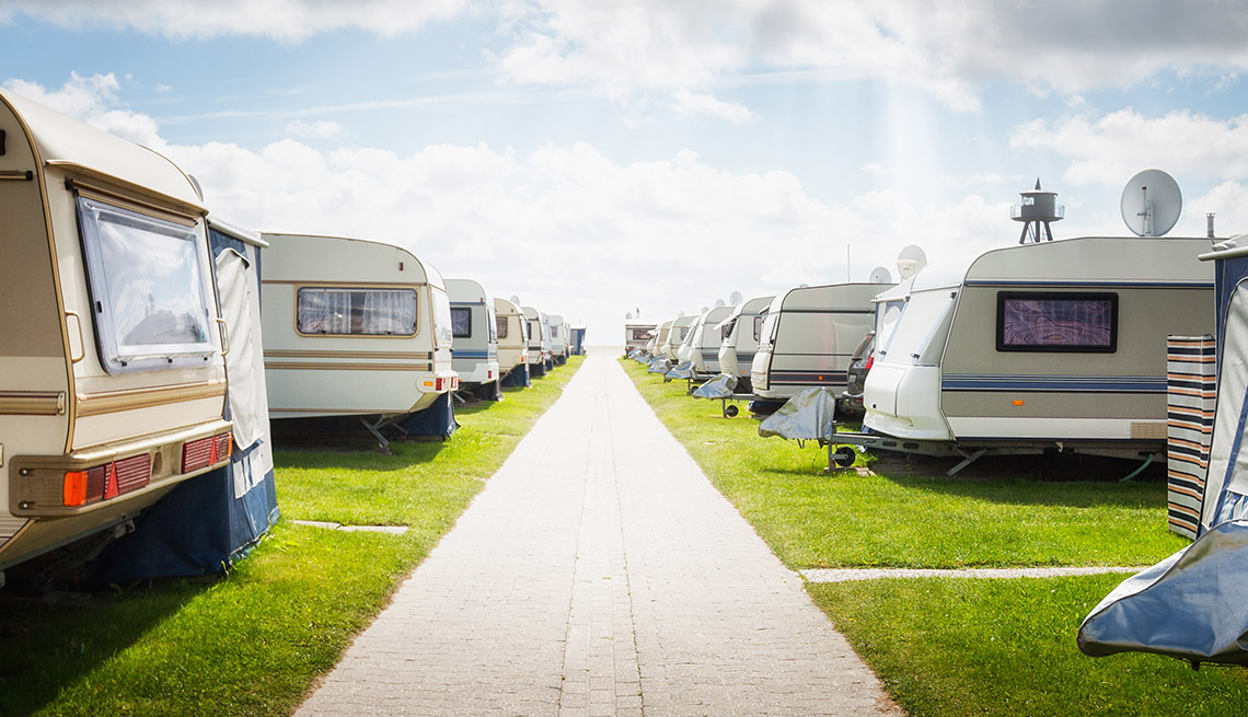 Bunch Of RVs Parked, Tips From Experienced RV Travelers
