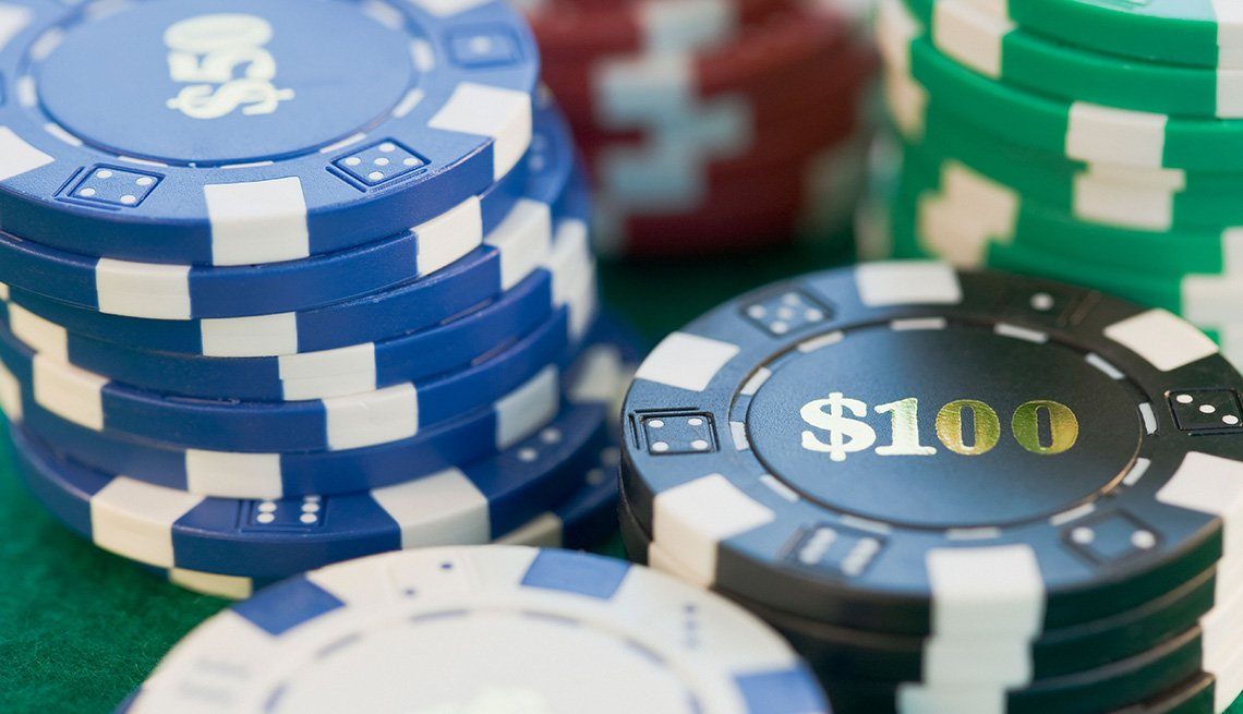 Close Up Of Poker Chips, Gambling Trip Tips