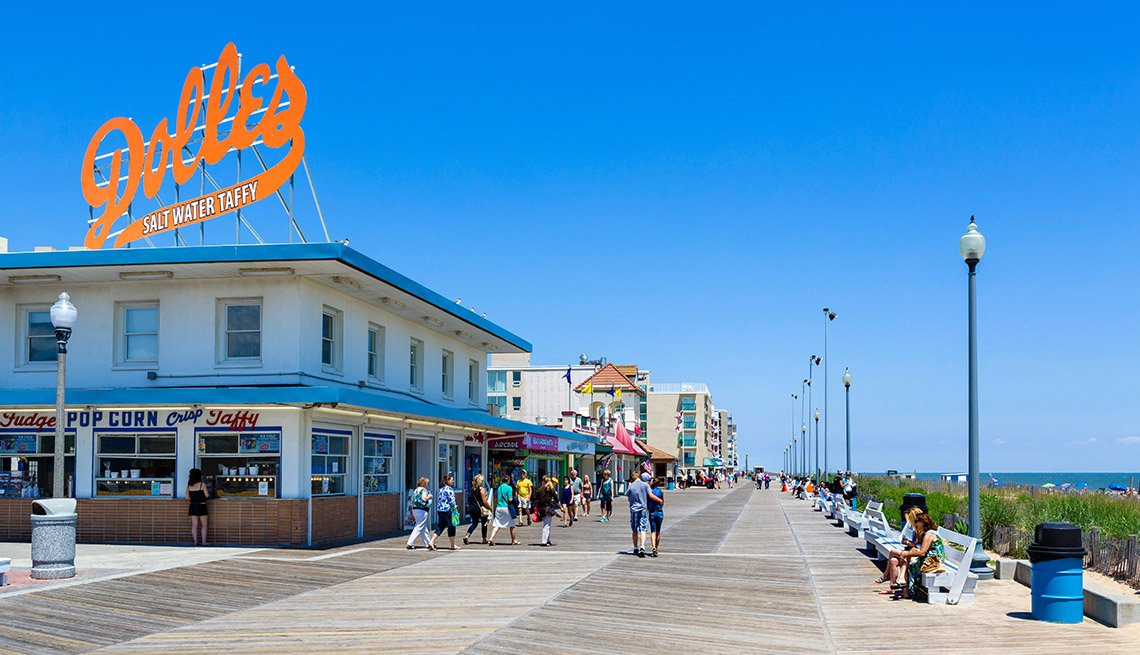 The Boardwalk In Rehoboth Beach In Delaware, Best Beach Towns