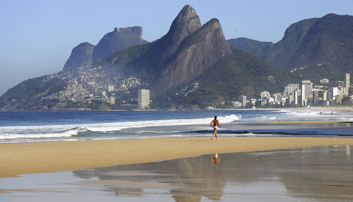 Lone Person On The Beach In Rio De Janeiero Brazil, World's Best Beaches