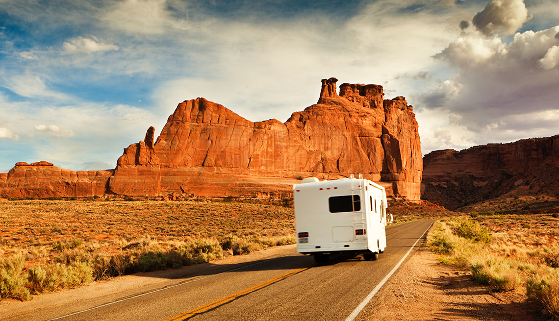 A Single RV On The Highway In American Southwest, Tips From Experienced RV Travelers