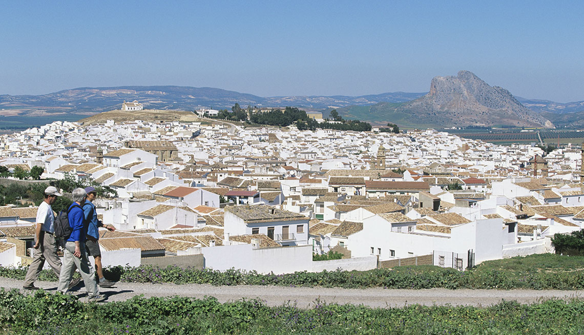 Visitors Enjoy The Scenery And Buildings In Andalusia Spain, Wellness Vacation