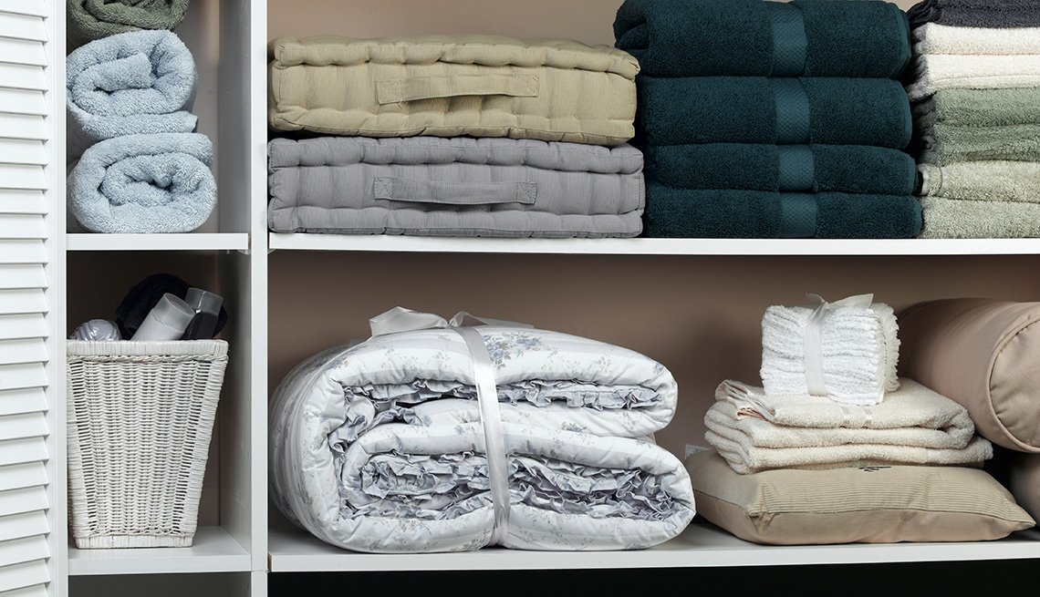 Towels Stacked On Shelves, Tips From Experienced RV Travelers