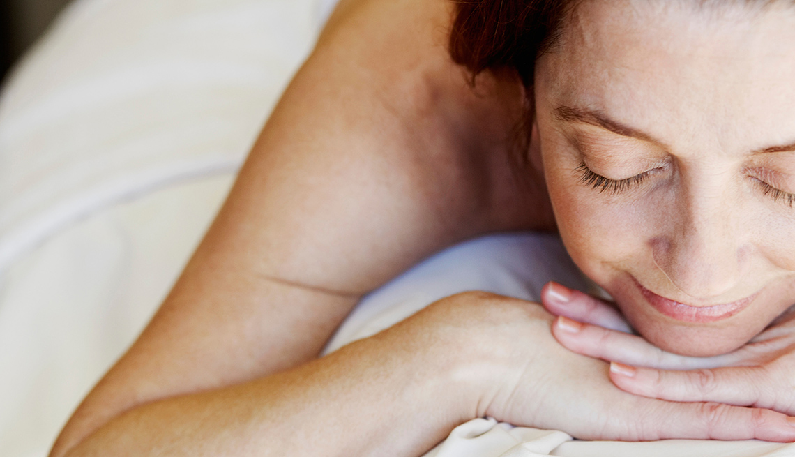 Woman Relaxes While Getting A Massage, Wellness Vacation
