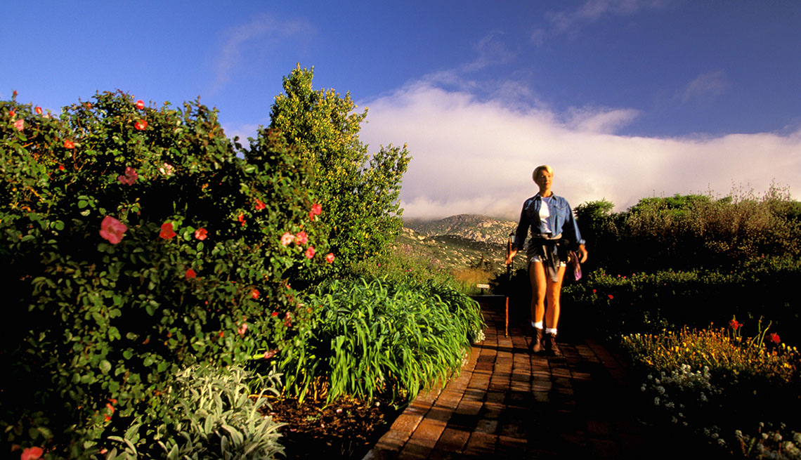 Woman Hikes In Rancho La Puerta In Central America, Wellness Vacations